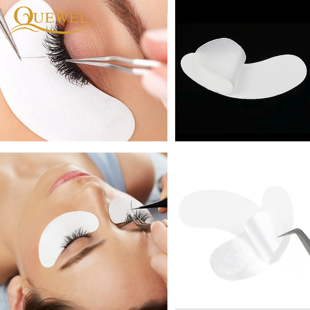 Image 2 - 50 Pairs Patches Eyelash Extension Stickers Eye Pads Paper Under Eyes Grafted Lash Stickers Beauty Tips Wraps Tools Pad Quewel-in False Eyelashes from Beauty & Health