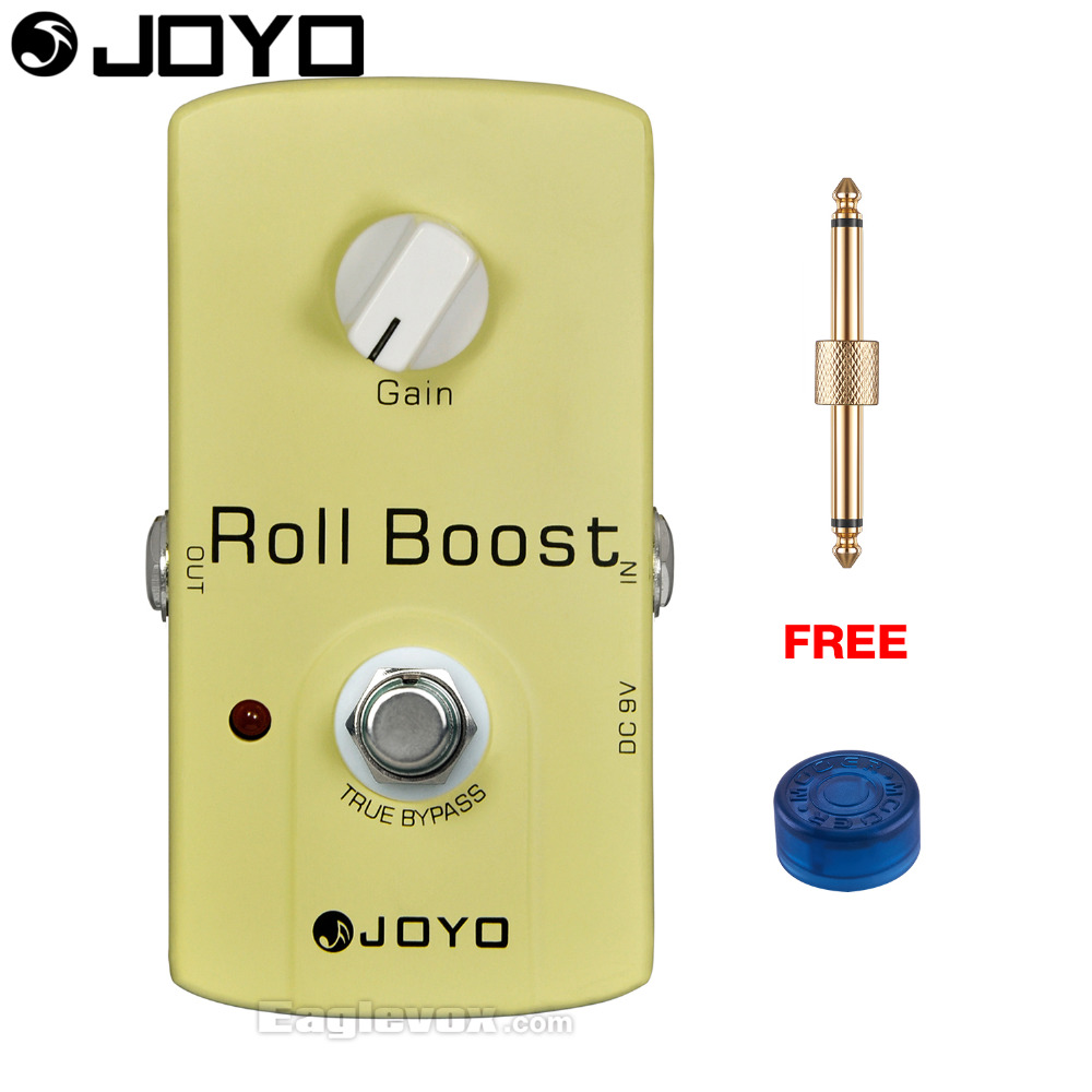 JOYO Roll Boost Electric Guitar Effect Pedal True Bypass JF-38 with Free Connector and Footswitch Topper mooer ensemble queen bass chorus effect pedal mini guitar effects true bypass with free connector and footswitch topper