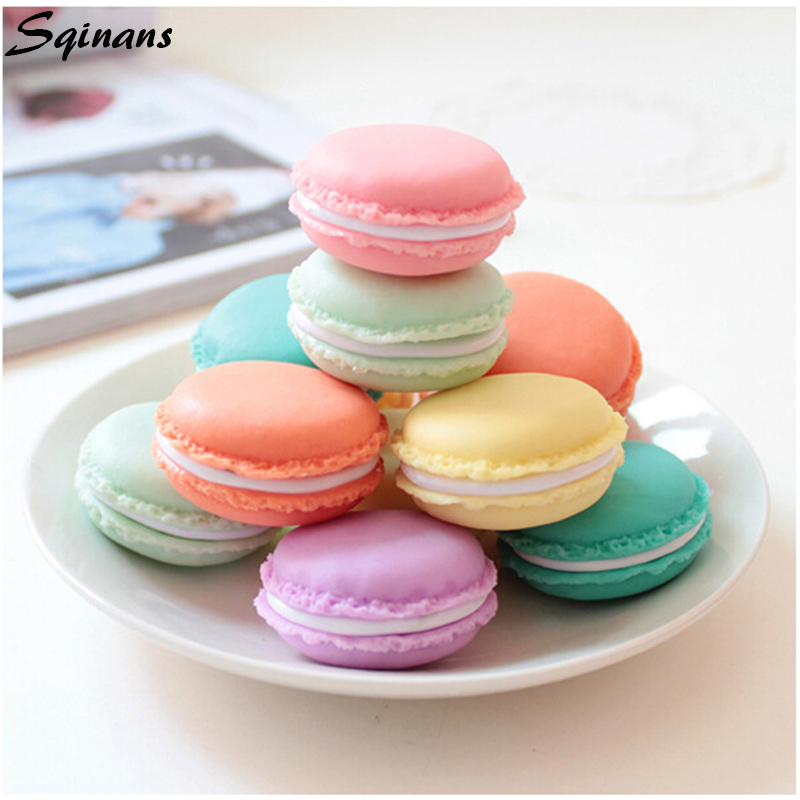 Sqinans Macaron Design Portable Mini Jewelry Storage Box Candy Color Jewelry Ring Necklace Carrying Case Organizer 1PC