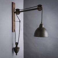 Ретро Винтаж черный гладить Оригинальный Деревянный светодио дный E27 бра для Гостиная проход ресторан Спальня деко крыльцо Light 1687