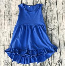 Unique Baby Girl Names Images high low top tank Dress fashion Low Price high quality cotton sleeveless dress(China)
