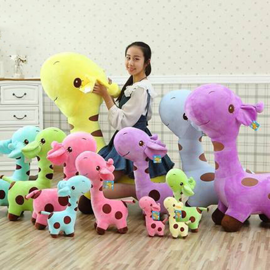 2017 New Cute Plush Giraffe Soft Toys Animal Dear Doll Baby Kids Children Peluches De Animales Kawaii Birthday Gift 70C0045