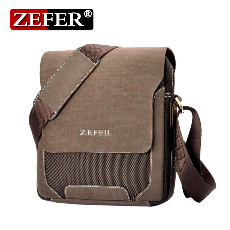 ФОТО ZEFER Durable quality Oxford men bag vertical multifunctional Leisure Bag Vintage shoulder bags Casual men messenger bags