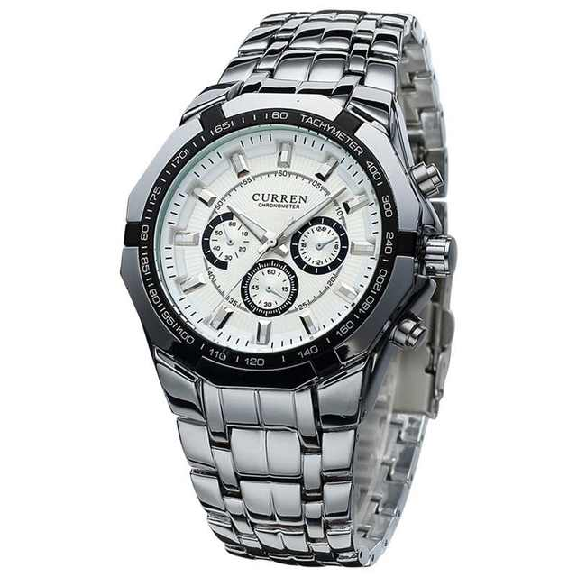 e69d2c00e18 placeholder Homens de Negócios Assistir Relógio Curren Mens Relógios Top  Marca de Luxo Militar Completa Aço Inoxidável