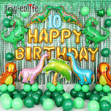 JOY-ENLIFE Walking Green Dinosaur Balloons Kids Party Decoration Dino Baby Shower Supplies 1st 2st Birthday Decor