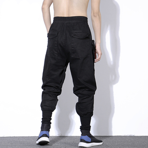 Image 4 - Streetwear Spring Harem Pants Men Hip Hop Black Casual Mens Joggers Pants 2020 New Sweatpants Cargo Trousers Men