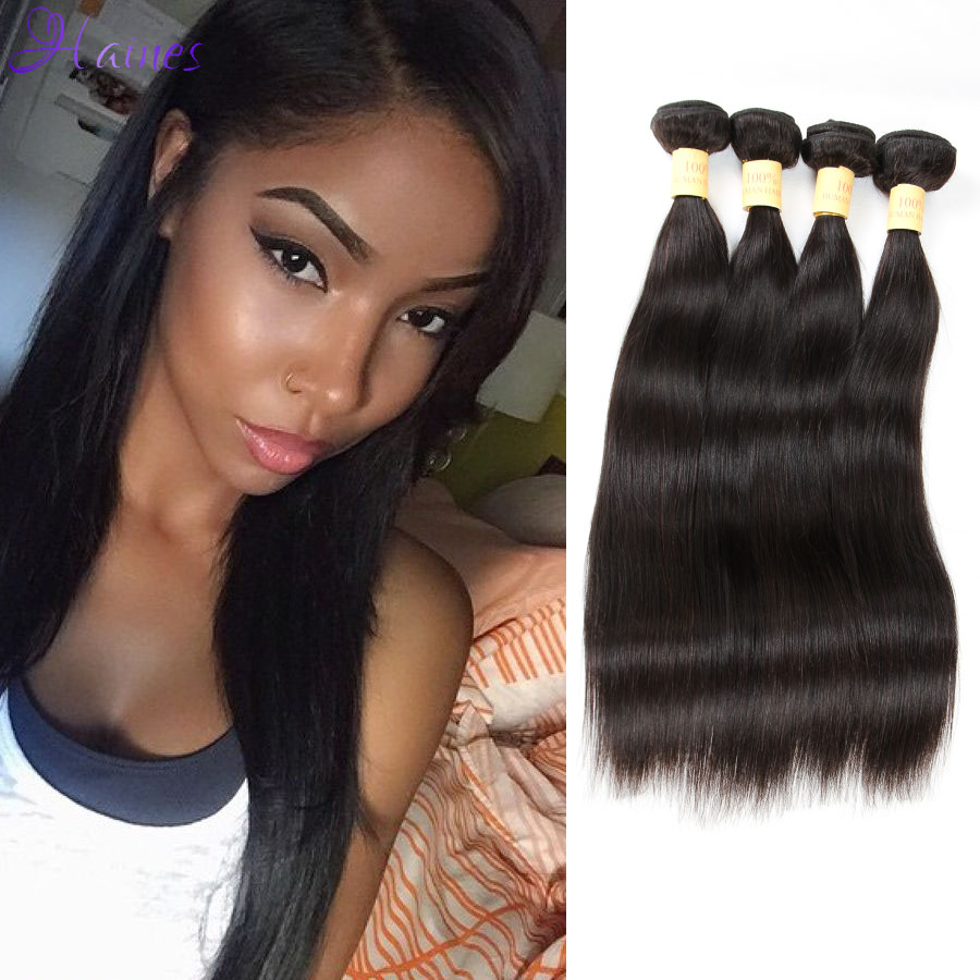 mslula Hair Products Brazilian Virgin Human straight  Bundles Brazilian Unprocessed Virgin Hair No Shedding Big Discount Hotsale