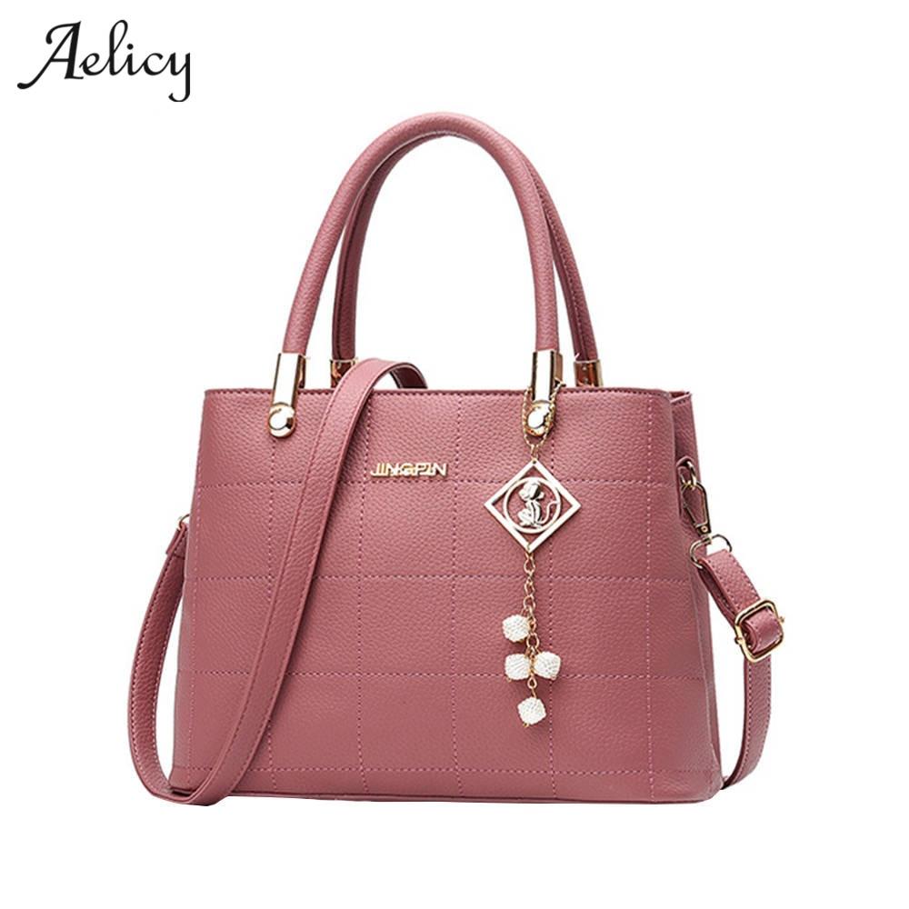 Aelicy Bolso Mujer Ladies Brand Leather Handbags Fashion Casual Tote Bag Big Shoulder Bag For Woman Hot Sale Bolsa Feminina 1012