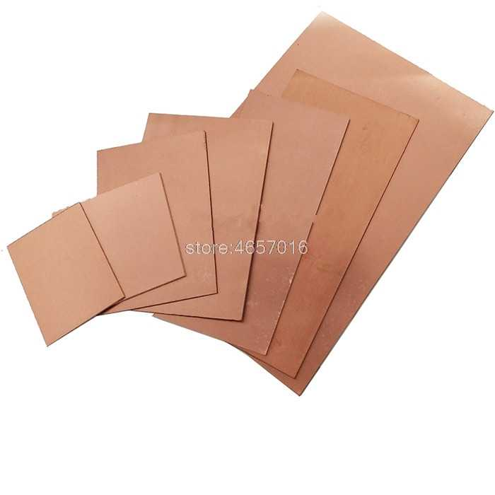 3 pieces FR4 Bungard Presensitized Double Sided Copper Clad Board 0,8mm thick 35/µm Cu 100x160mm