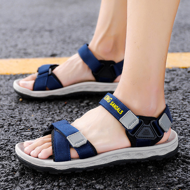 Men Sandals Summer Shoes Flat Beach Sandals Men Casual Sandals Black Shoes Unisex High Quality Non-slip Outdoor Sandals