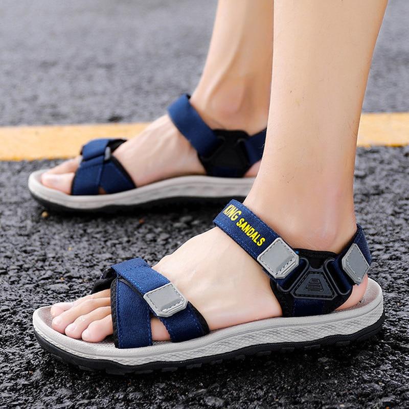 Men sandals summer shoes flat beach sandals men casual sandals black shoes unisex high quality non-slip outdoor sandals