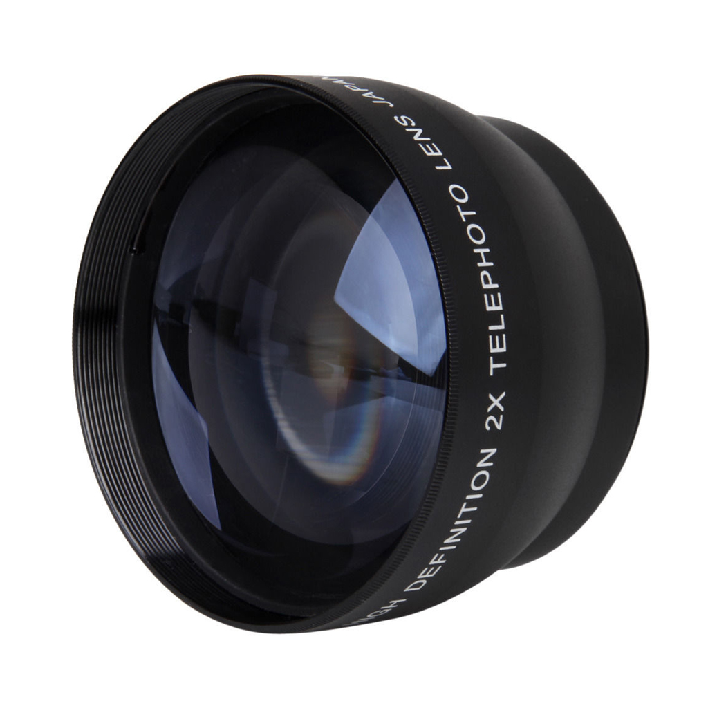 Wholesale5pcs*52mm 2X Magnification Telephoto Lens for <font><b>Nikon</b></font> AF-S <font><b>18</b></font>-55mm 55-<font><b>200mm</b></font> Lens Camera image