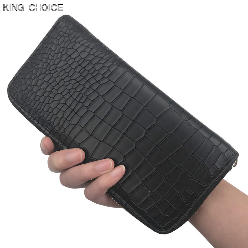 New 2017 Women Purses Vintage Alligator Wallet Zipper Clutch Bag Fashion Designer Female Leather Wallets Famous Brand Purse
