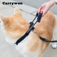 Carrywon Pets Multifunctional Dog Collars Leashes Durable Nylon Adjustable Car Safety Belt Built-in Pet Collar Rope