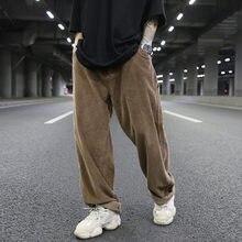 Degli uomini di Velluto A Coste Pantaloni Lunghi Moda Retrò Pantaloni Dritti  Più Il Formato 36 Rap Hip Hop Dei Pantaloni Degli U.. 36d0db2fe9c9