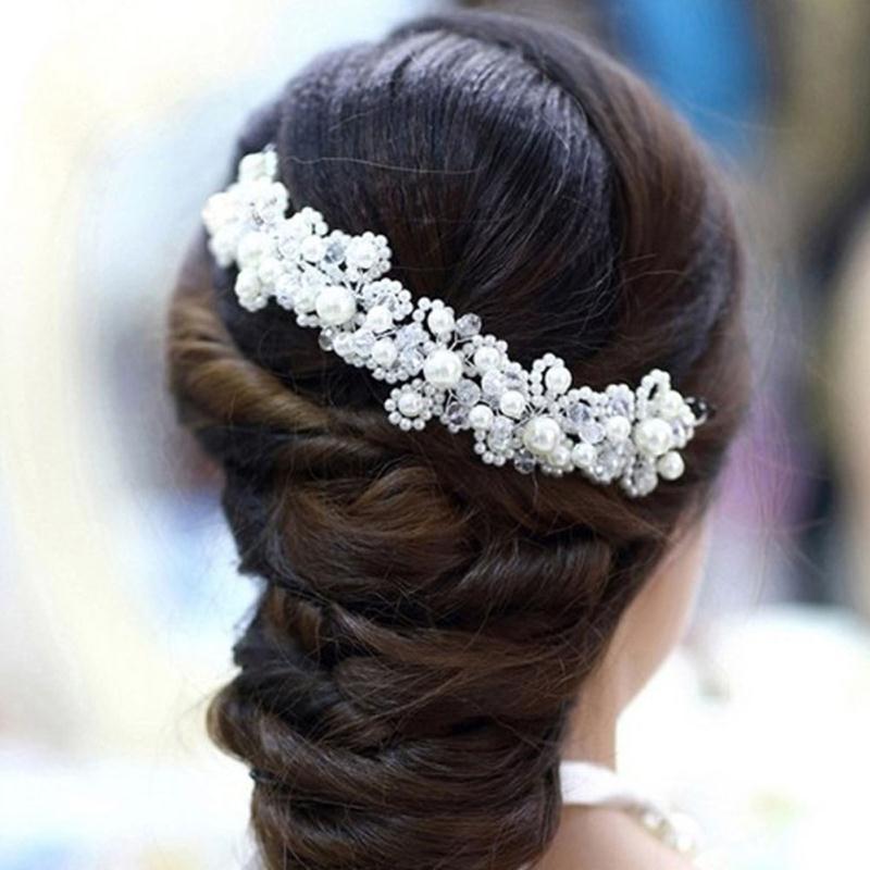 Fashion Women/'s Crystal Headband Hairband Flower Hair Band Hoop Accessories Prom