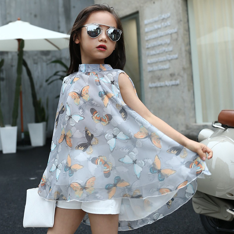 Girls Fashion Clothes: 2017 New Girls Dress Summer Fashion Sleeveless Butterfly