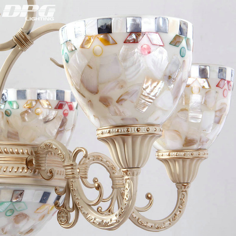 Vintage tiffany style chandeliers lamp with 110v 220v 3 5 6 8 E27 Base lights for living room bedroom
