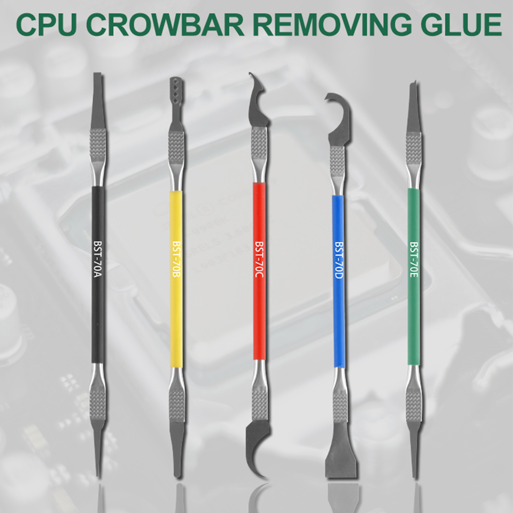 5 In 1 IC Chip Repair Thin Blade CPU NAND Remover BGA Maintenance Knife Remove Glue Disassemble Phone PC Rework Processor Tools