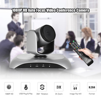 Aibecy 1080P HD USB Video Conference Camera Auto Focus 3X Optical Zoom Auto Scan Plug N Play with IR Remote Control for office