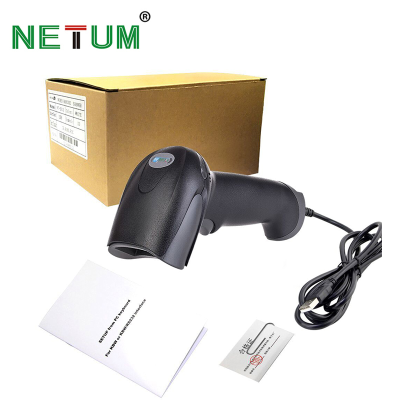 NETUM Barcode Scanner Portable Laser NT-2012 High Sensitive Barcode Handheld Scanner USB Wired 1D Bar Code Scan for POS System