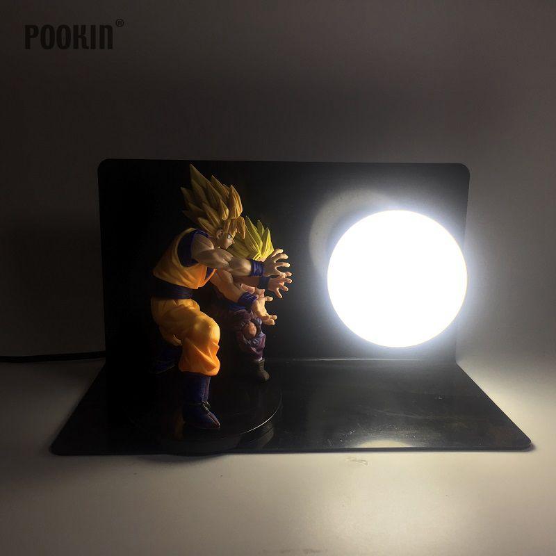 Double Dragon Ball Сон Гоку и Сын Гохан бомбы Luminaria светодиодный свет ночи праздник подарок номер декоративные светодиодные лампы в ЕС США Plug