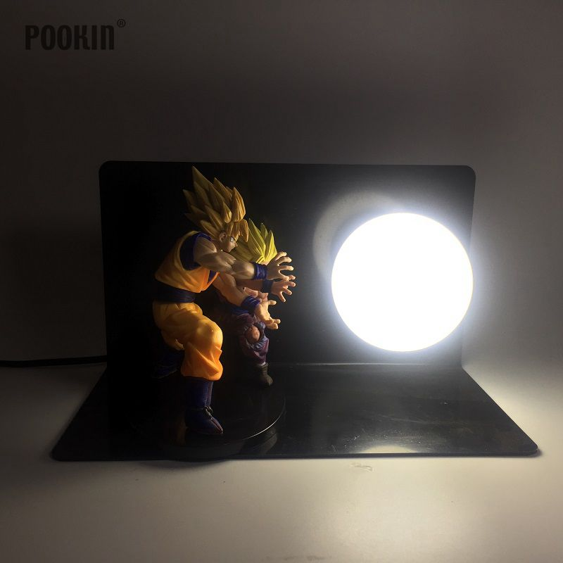 Double Dragon Ball Son Goku And Son Gohan Bombs Luminaria Led Night Light Holiday Gift Room