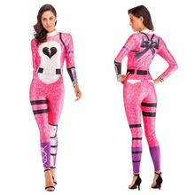 Women Game Cosplay Costume Bear Panda CUDDLE Fireworks Team Leader Zentai Bodysuit Suit Jumpsuits Halloween