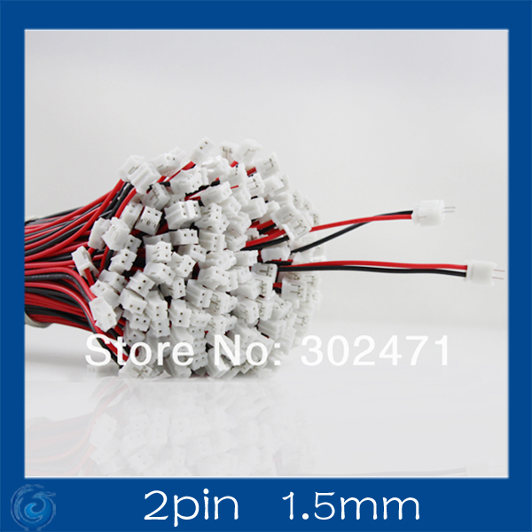 Mini. Micro JST 1.5mm T-1 2-Pin Connector W/.Wire X 10 Sets. 2pin1.5mm