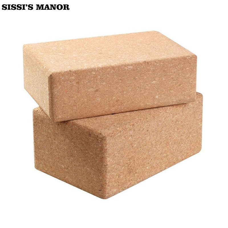 Eco-friendly Yoga SISSI'S MANOR Cork Block Brick Foam High Quality Home Practice Fitness Gym Exercise Sport Tool 22.5*15*7.5cm