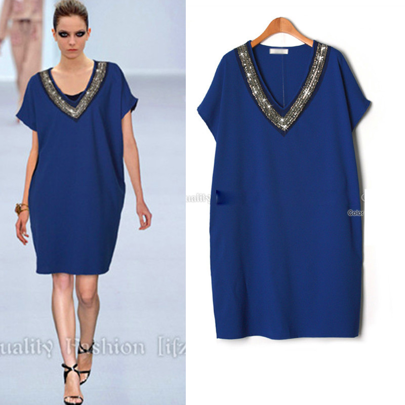 Buy Cheap Yibaka 2017 summer style new fashion short sleeve women's dress stapel V-neck wide loose summer dress women
