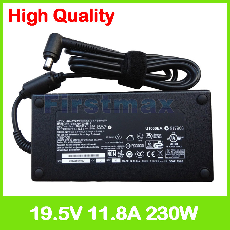 19.5V 11.8A 230W laptop charger ADP-230EB T ac adapter for MSI GT62VR 7RD GT62VR 7RE Dominator Pro GT73VR GT75VR 7RE Titan SLI 19v 9 5a 180w adapter adp 180hb b for msi gt60 gt70 power charger for asus g55vw g75vw g75vx g750 g750jw g750jx