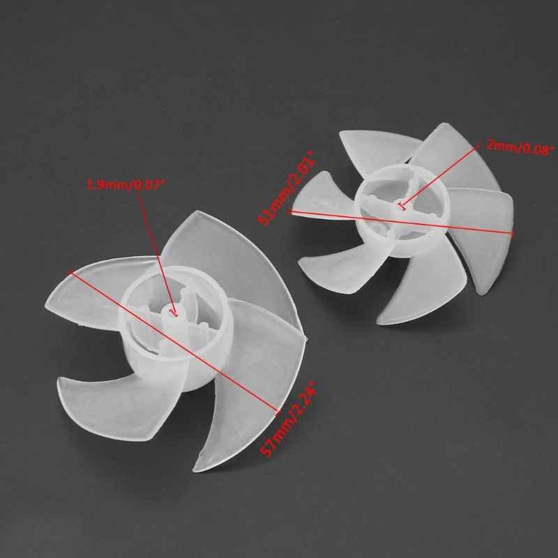 Công Suất Nhỏ Nhựa Mini Cánh Quạt 4/6 Lá Cho Máy Sấy Tóc Động Cơ Thả Tàu No28