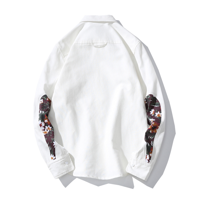 Methodical 4xl 5xl Plus Size Cotton Shirts Man Print White And Black Casual Shirts Long Sleeve Turn-down Collar Fashion Clothes Y905 Providing Amenities For The People; Making Life Easier For The Population Shirts Casual Shirts