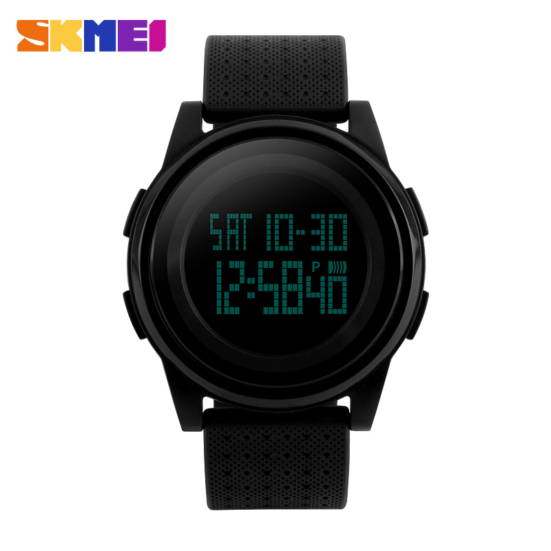 <font><b>SKMEI</b></font> New Fashion Casual Brand Waterproof Watches men Women Lovers round dial Sport Watch With Very Comfortable Soft Band image