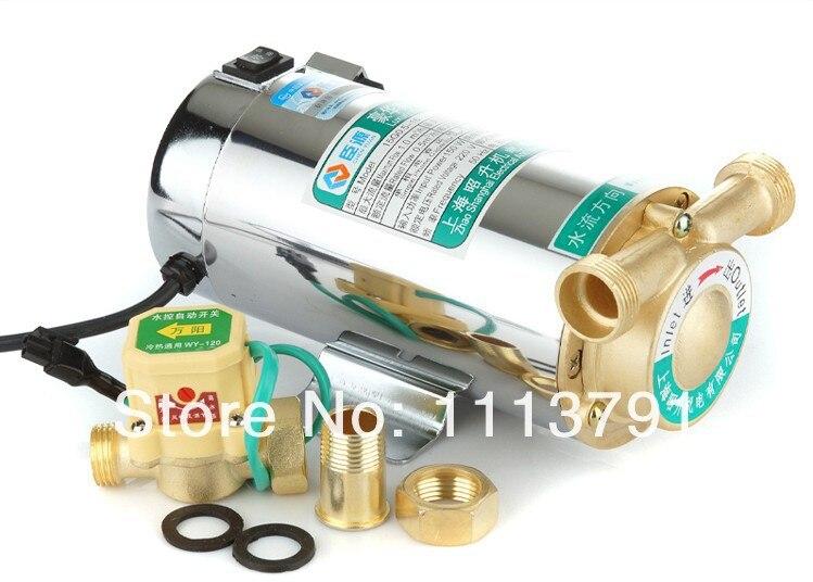 Chauffe-eau à gaz automatique domestique pompes à eau solaires pompe de surpression de l'eau muet 100 W