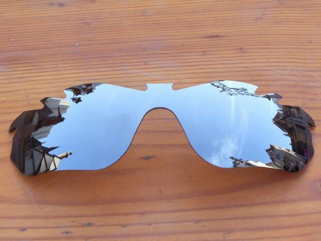 Policarbonato-Chrome Espelho de Prata Borda Vented Lentes de Reposição Para  óculos RadarLock Óculos De 738bb4054f