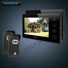 HOMSECUR 7″ Hands-free Video Door Entry Security Intercom+Touch Button Monitor+Ship from RU