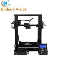 Original Creality 3D Ender-3 ranura en V Prusa I3 DIY 3D Kit de impresora 220*220*250mm MK10 extrusora 1,75mm boquilla de 0,4mm 3D impresora
