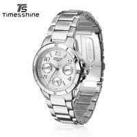 Timesshine Women S Wrist Watches Steel Bracelet Luxury Brand Geneva Quartz Clock Ladies Wristwatch Japanese Quartz