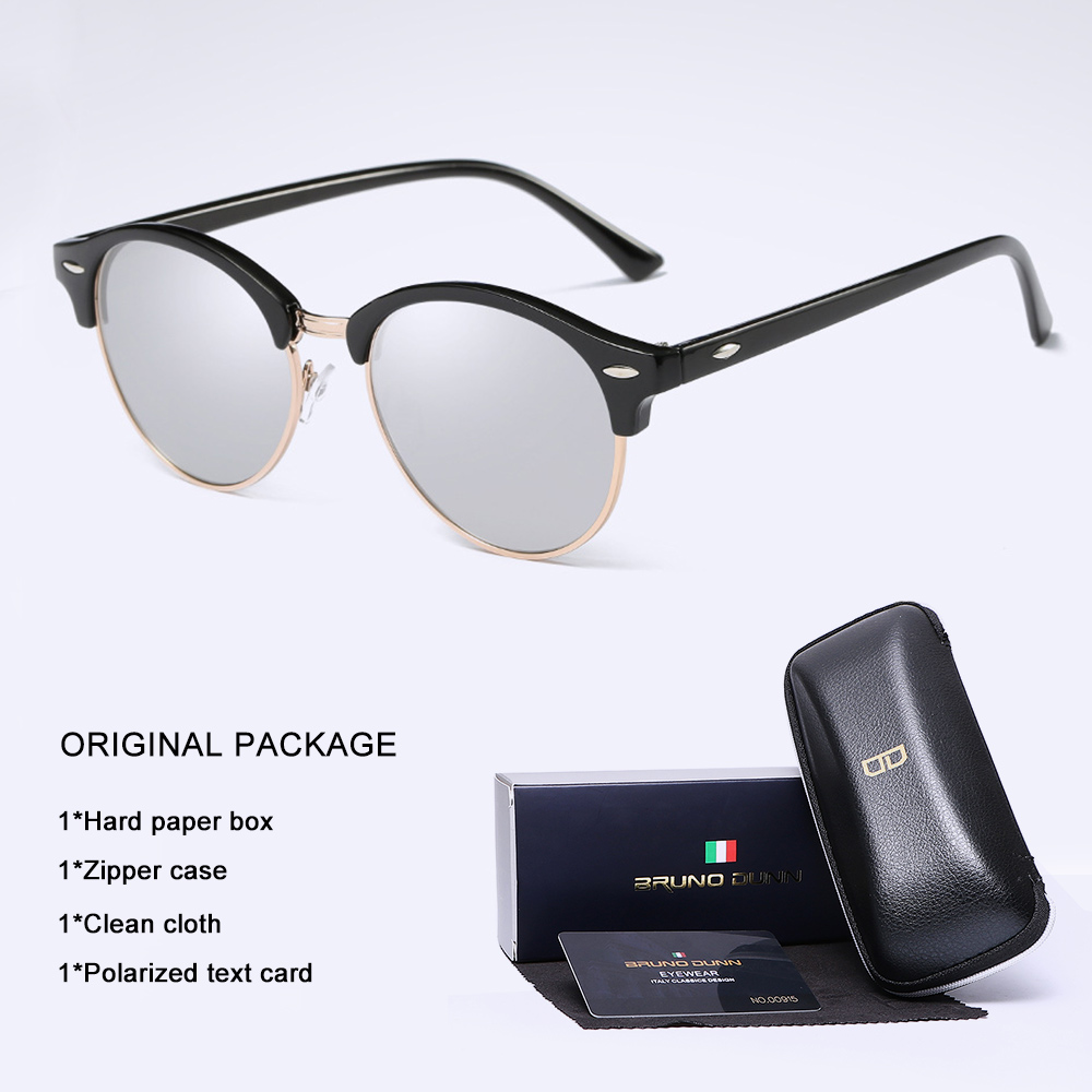 389b37c4d3e Classic Polarized Sunglasses Men women round Driving Coating Black Frame  Fishing Driving Eyewear Male Sun Glasses Oculos ray-in Sunglasses from  Apparel ...