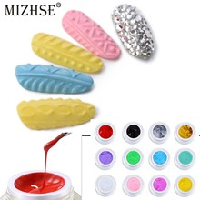 MIZHSE 3D Reliëf Gel Nail Art 3D Gel 12 Kleuren Acryl Carving UV LED Gel Langdurige 3D Sculptuur UV Gel nail Art Design Zwart(China)