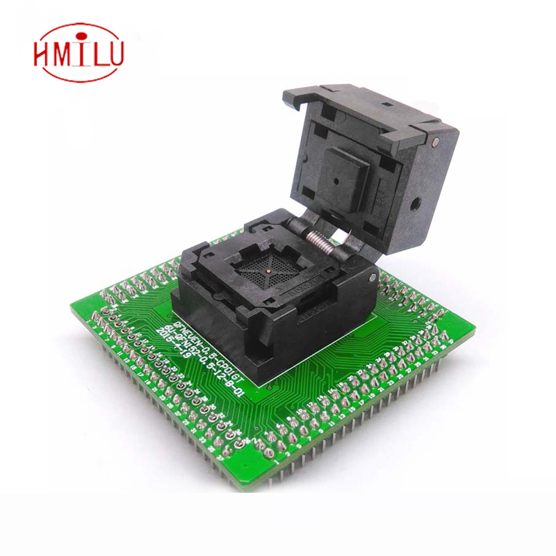 QFN56 MLF56 WLCSP56 to DIP56 Programming Socket Adapter Pin Pitch 0.5mm IC Body Size 8x8mm IC550-0564-010-G Test Socket fshh qfn32 to dip32 programmer adapter wson32 udfn32 mlf32 ic test socket size 3 2mmx13 2mm pin pitch 1 27mm