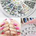 Nail decoration Rhinestone Steering-Wheel 5 Sizes White Multicolor Acrylic Nail Glitter Rhinestones For Nail Gel Polish