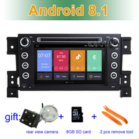 Android 8.1 Car DVD Player for suzuki grand vitara 2007 2013 multimedia stereo with BT WIFI GPS Radio
