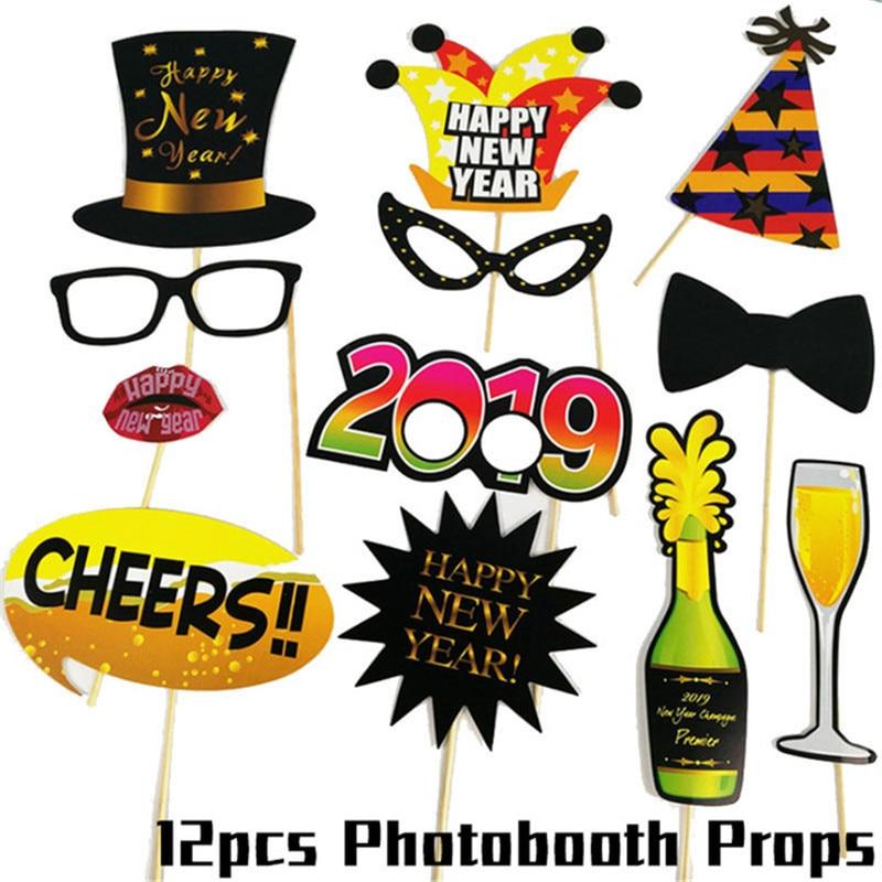 Christmas 2019 Photobooth Props Photo Booth Frame Mascara Mask