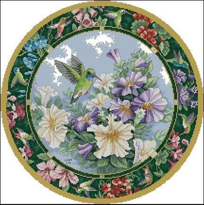 Top Quality Lovely Cute Counted Cross Stitch Kit Sweet Nectar Hummingbird And Flowers Dim 35011