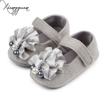 New Arrival Hot Beautiful Flower Pearl Soft Sole Shallow Baby Girl First Step Princess Shoes For 0-15 Months