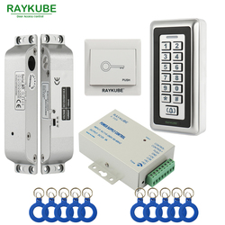Zestaw kontroli dostępu RAYKUBE elektryczny zamek wpuszczany + RFID metalowa klawiatura drzwi bezpieczeństwa