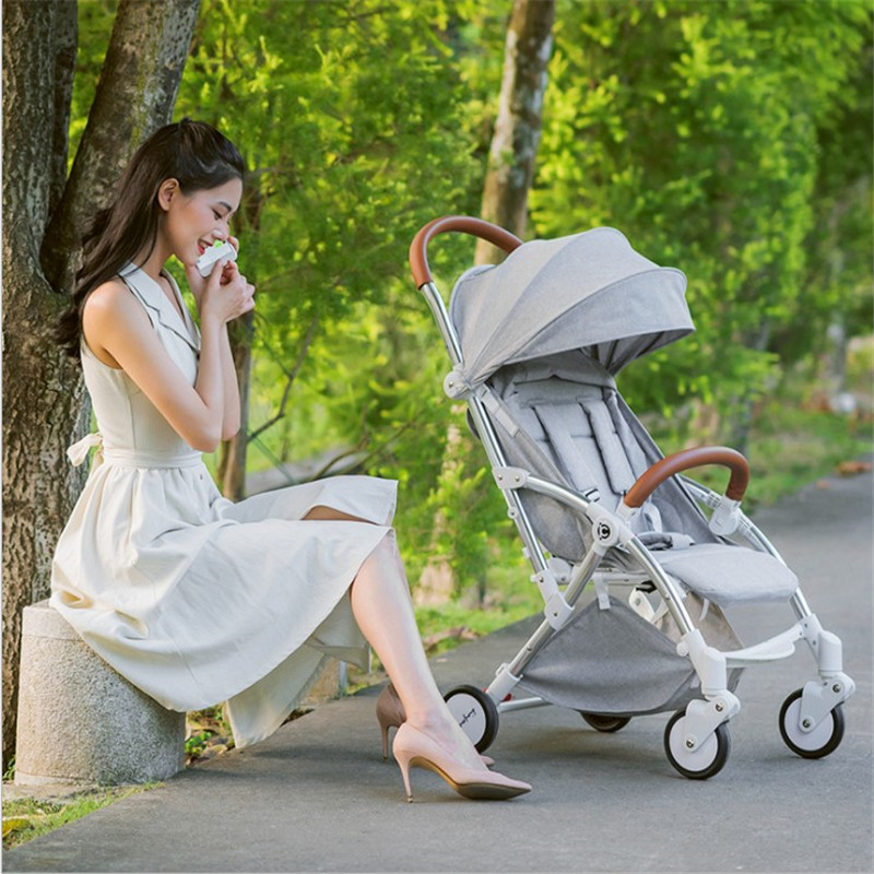 Kidstravel Luxury Baby Stroller For Baby Bebek Arabasi Foldable Portable Poussette Kinderwagen Pram Pushchair